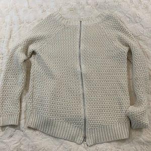 Zipper Back | Knit Sweater